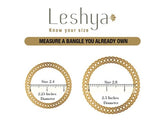 Set of 2 Daily Use Meenakari Bracelet with Intricate Stone and Gold Work by Leshya