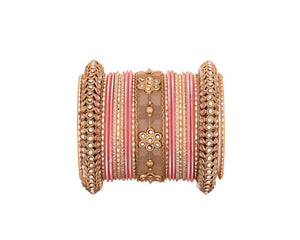One Hand Multi-Colored Velevet Textured Bangle Set (Plus Size)