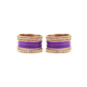 Simple Matte Textured Stone Bangle Set