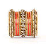 Beautiful Colored Meena Bangle Set For One Hand