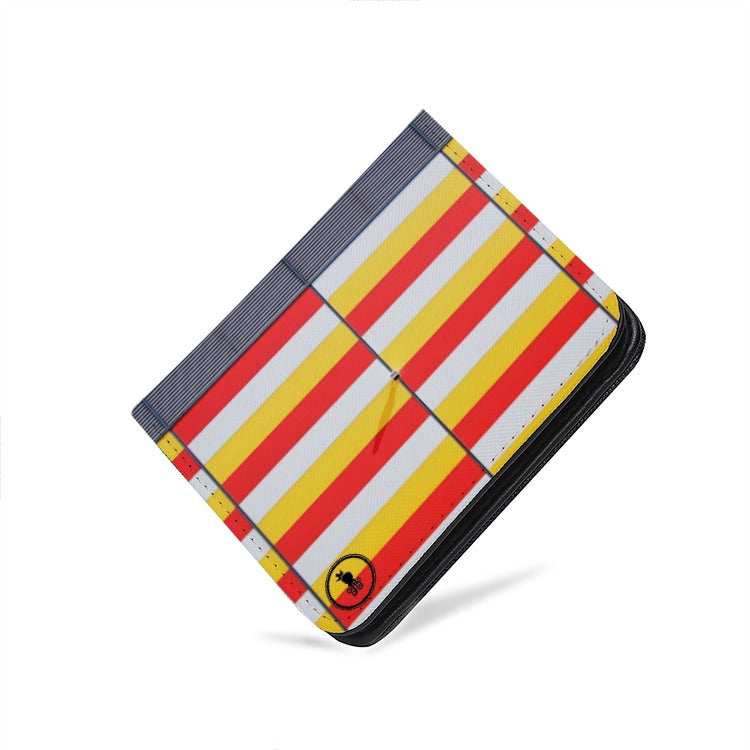 Striped Card Wallet
