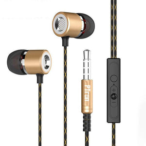 PTron Flux In-Ear Stereo Headphone with Noise Cancellation For For All Sony Smartphones (Gold)