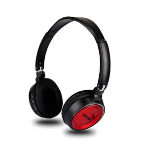 PTron Trips Bluetooth Headset Wireless Stereo Headphone With Mic For All Smartphones (Red)