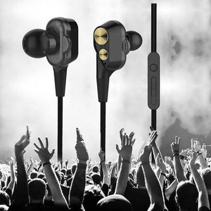 PTron Boom 2 4D Earphone Deep Bass Stereo Sport Wired Headphone With 3.5mm Jack For All Smartphones (black/Gold)