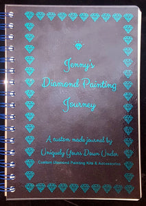 Diamond Painting log book journal sparkly foil cover