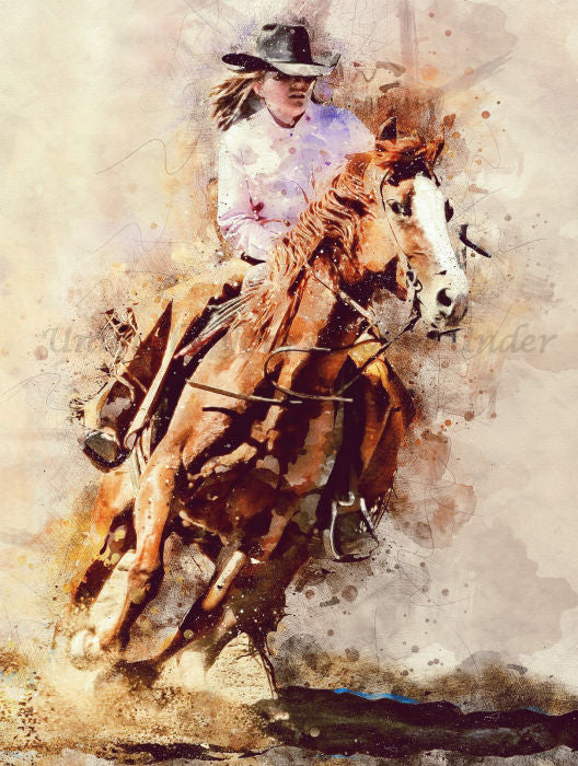 Cowgirl 01 Diamond Painting Kit