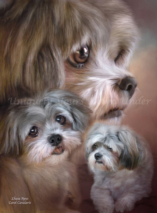 Lhasa Apso Diamond Painting Kit - Carol Cavalaris