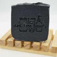 Charcoal Soap in a Dish
