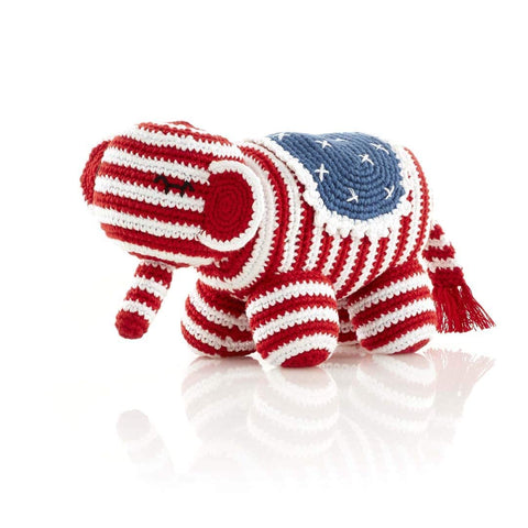 Red White and Blue Elephant