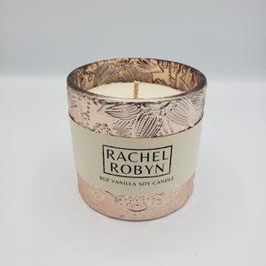 8oz Vanilla Soy Candle - Rose Gold