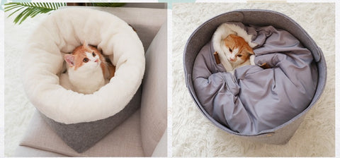 Soft Fluffy Cat Bed