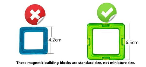 Magnetic Building Blocks Construction Set for Toddlers and Kids