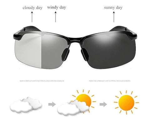 LuxeFrog - Transition Lenses - Day and Night Driving Glasses