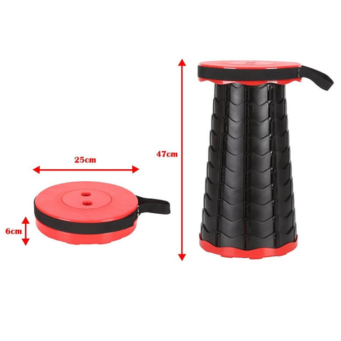 Foldable camping chair stool