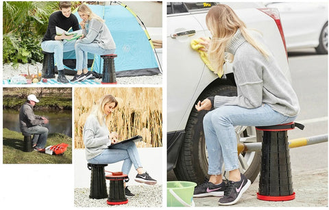 Outdoor foldable stool portable retractable chair