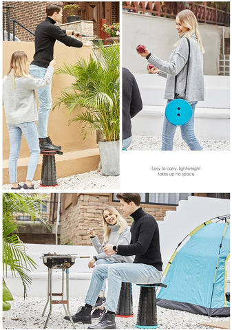 Portable light weight retractable stool for outdoors and indoors