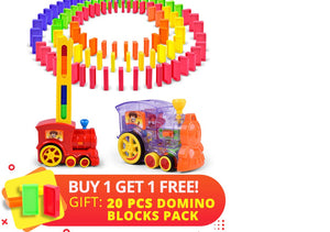 Kids Domino Toy Train Set