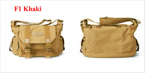 brown khaki camera case