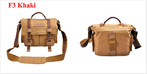 Brown Khaki camera carrying case