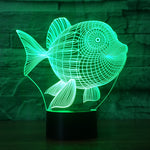 Cute Fish Night Lamp with 3D effect