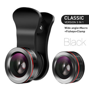 Phone Lens 3 in 1 Kit - Fish Eye Wide Angle and Macro