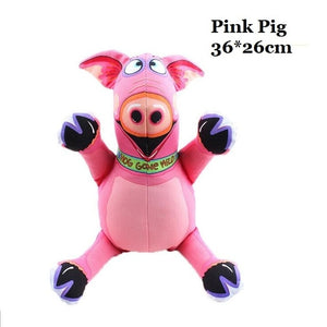 Pet Dog Soft Squeaky Toys - Pink Pig