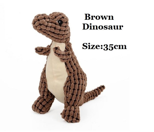 Pet Dog Soft Squeaky Toys - Dinosaur