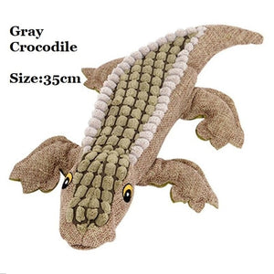 Pet Dog Soft Squeaky Toys - Crocodile Croc