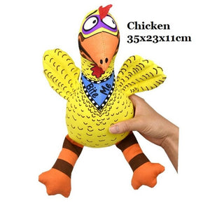 Pet Dog Soft Squeaky Toys - Chicken