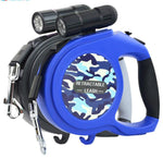 LuxeFrog - Retractable Dog Leash with flashlight