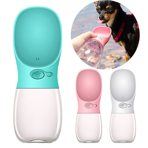 Portable Dog Travel Water Bottle with Drinking Cup