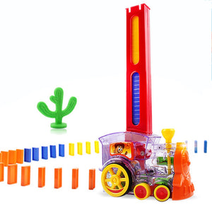 LuxeFrog - Kids Domino Toy Train Set