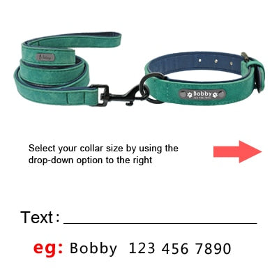 custom leather dog collars with ID tag