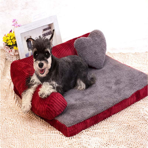 LuxeFrog - Cute Dog Bed Sofa with Backrest