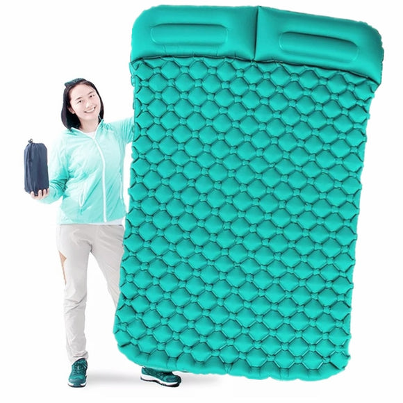 Inflatable Camping Mattress Single and Double with Pillow