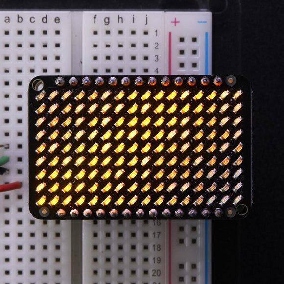 Adafruit matriz LED Charlieplexed Matrix - 9x16 LEDs Amarillo
