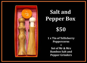 Mr and Mrs Bamboo Salt and Pepper Gift Box