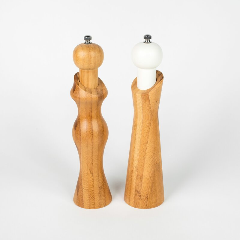 Mr and Mrs Bamboo Salt and Pepper Mills