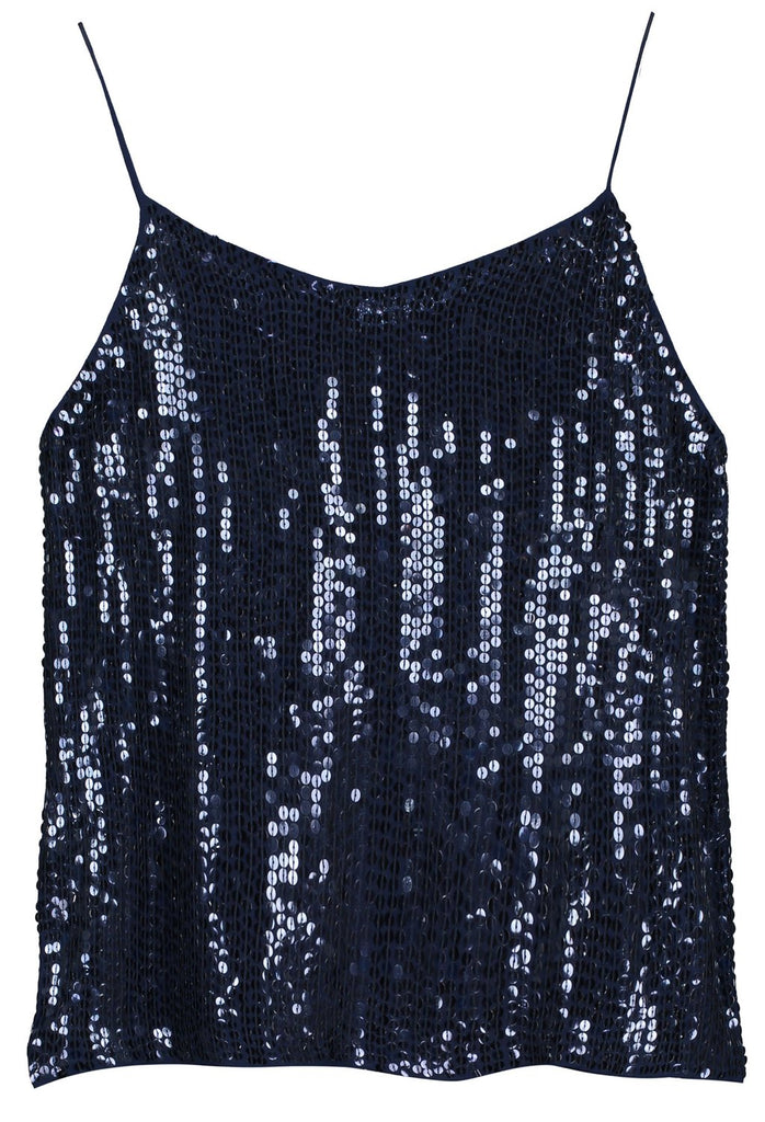 Belitis Cami in Navy Sequins