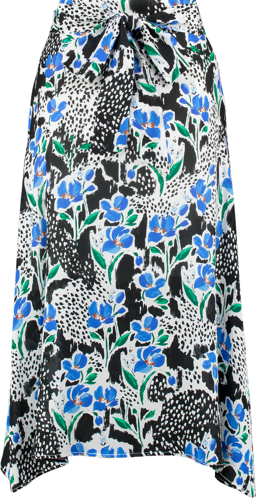 Miranda Silk Skirt in Bluebell Print