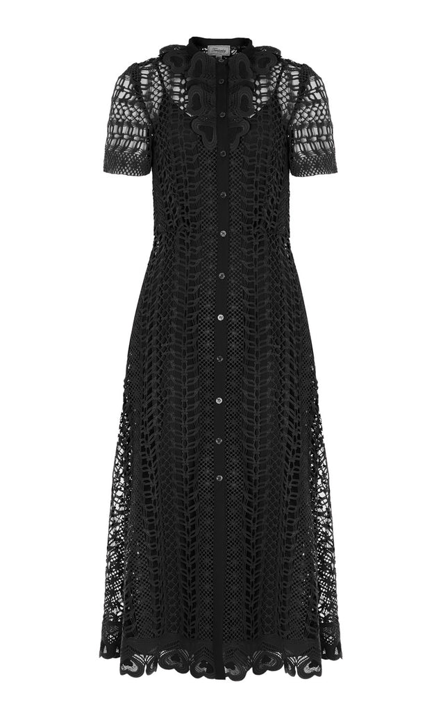 Sunbird Shirt Dress in Black