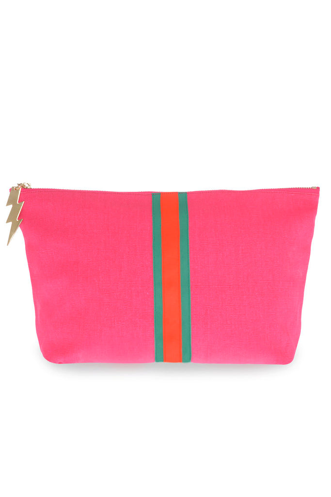 Hot Pink Lucky Stripe Bag