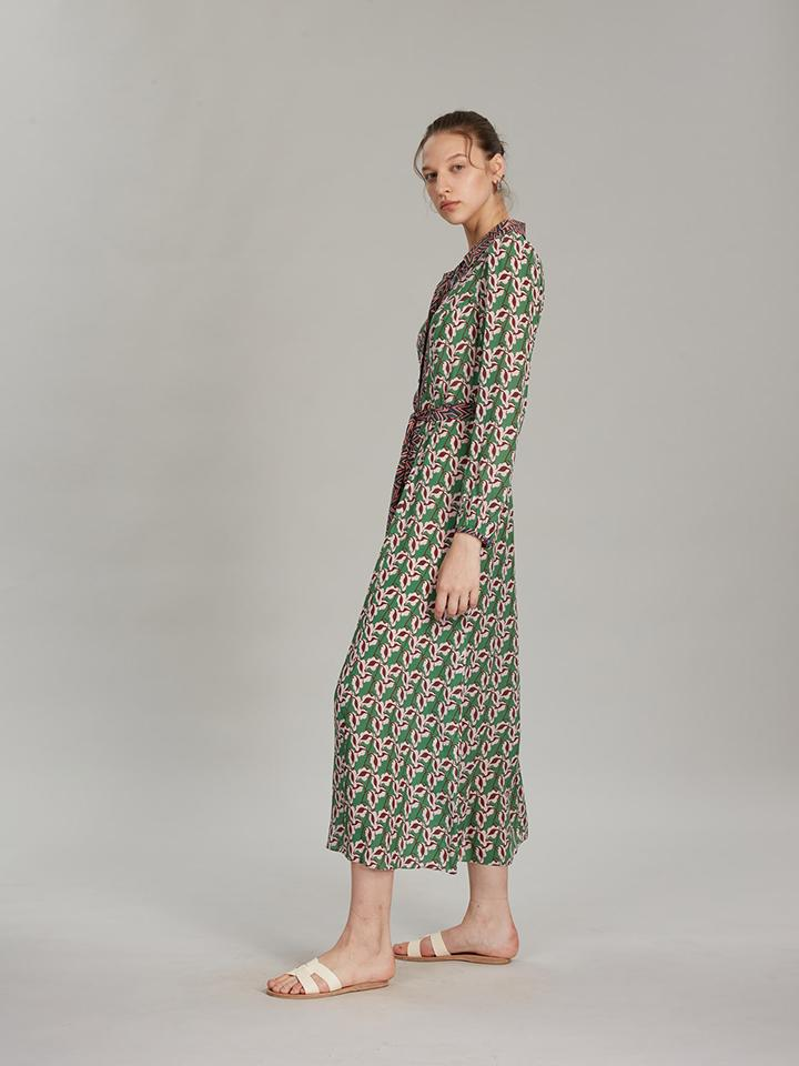 Vanessa-B Dress in Larkspur Leaf Print