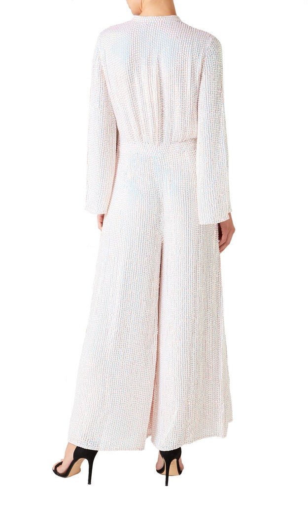 Constellation Jumpsuit in Iridescent Sequins