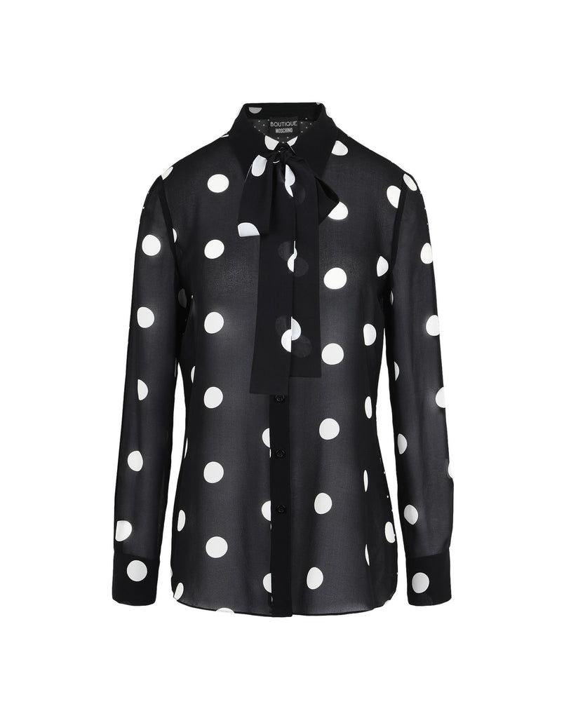Spotty Silk Blouse