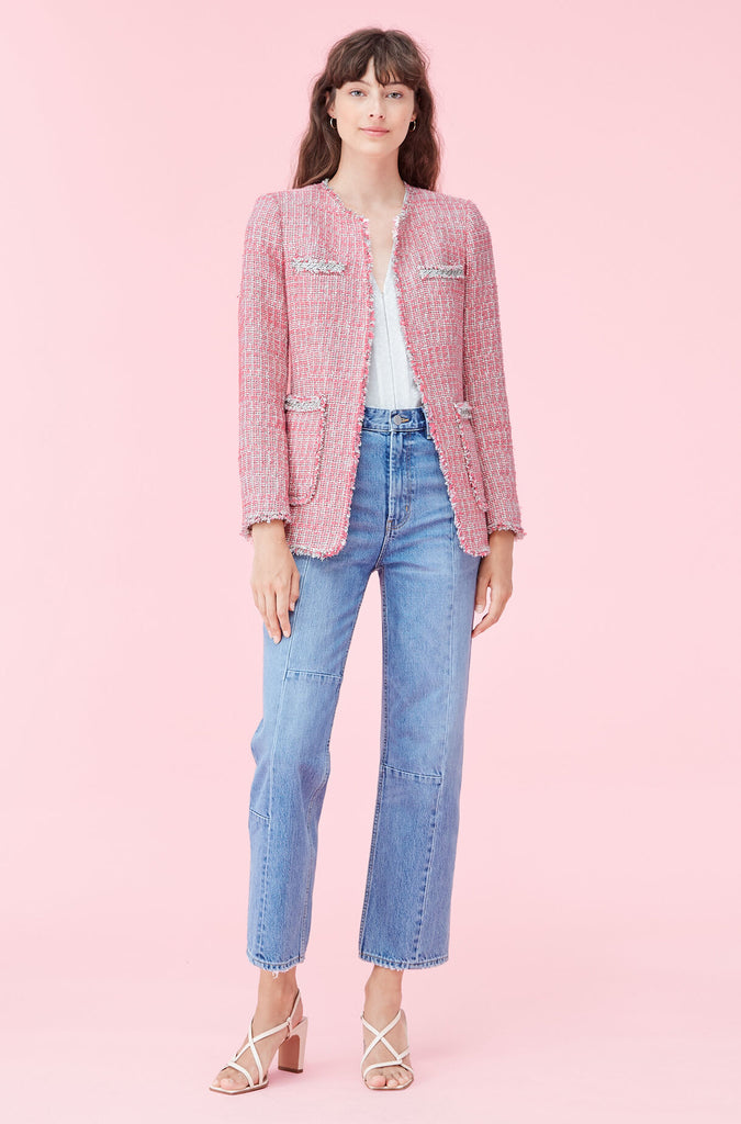 Tweed Jacket in Pink Combo