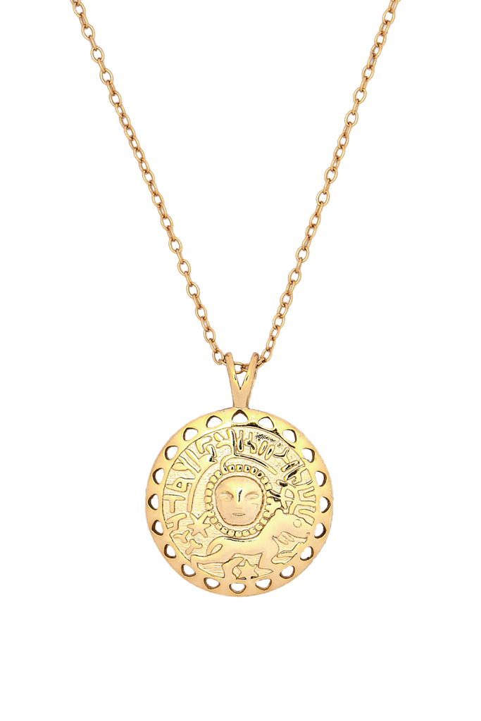 Roman Coin Pendant on a Long Chain