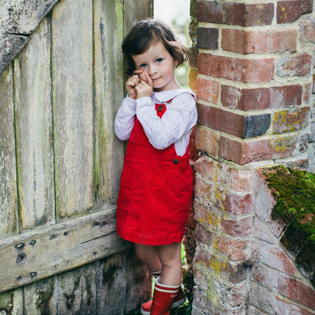 Red Corduroy Dress