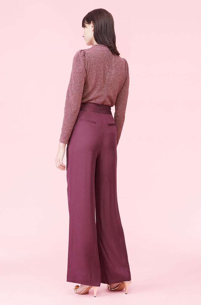 Satin Pant in Jewel