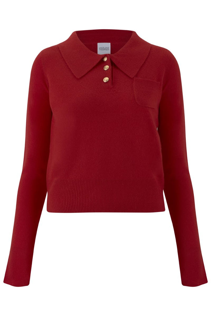 Dutch Cashmere Jumper in Red